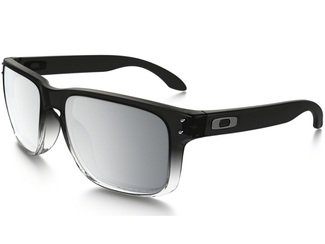 Oakley Holbrook Dark in Fade Chrome Iridium Polarized