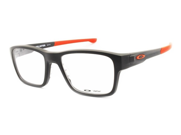 Oakley Splinter OX8077 Satin Flint/Orange Tamanho 52