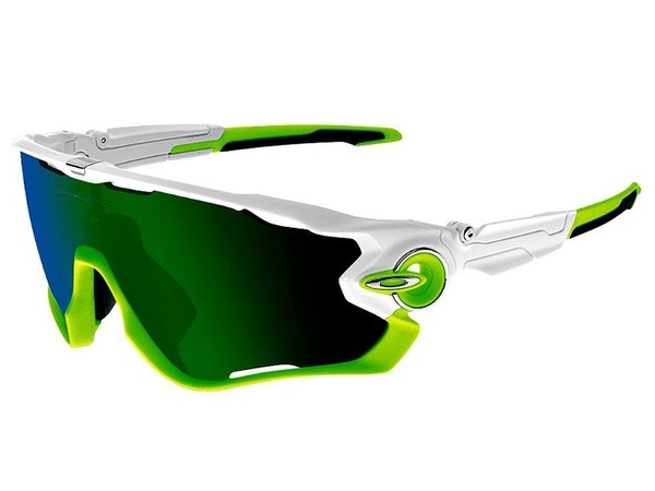 Oakley Jawbreaker Polished White / Jade Iridium OO9290 03